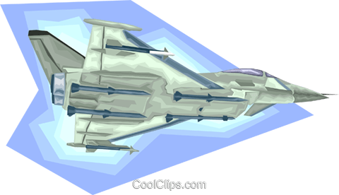 jet fighter Royalty Free Vector Clip Art illustration vc008198