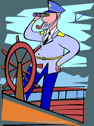 kapit228n schiff marine segeln vektor clipart bild