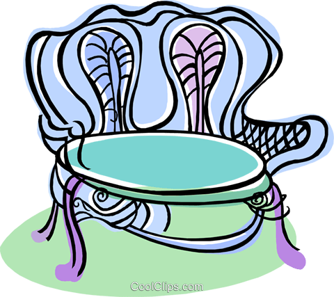 chair, furniture Royalty Free Vector Clip Art illustration vc008258