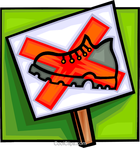 do not walk sign, sign Royalty Free Vector Clip Art illustration vc008287