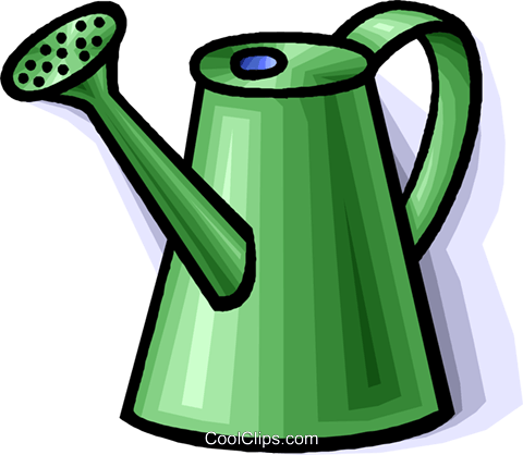 watering can Royalty Free Vector Clip Art illustration vc008292