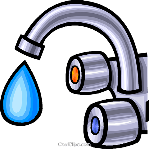 faucet, water tap Royalty Free Vector Clip Art illustration vc008298