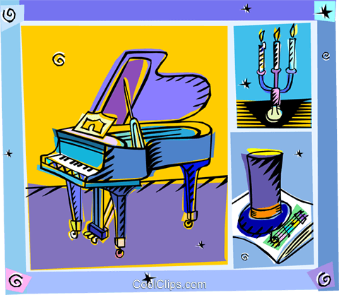 piano Royalty Free Vector Clip Art illustration vc008320