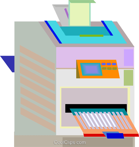 photocopier Royalty Free Vector Clip Art illustration vc008327