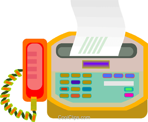 fax, phone Royalty Free Vector Clip Art illustration vc008337