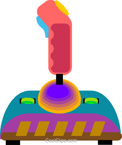 video joy stick Royalty Free Vector Clip Art illustration vc008345