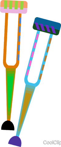 crutches Royalty Free Vector Clip Art illustration vc008352