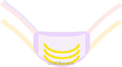 surgical mask Royalty Free Vector Clip Art illustration vc008373
