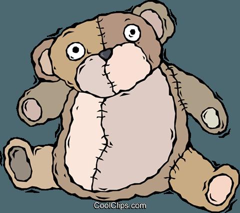 玩具熊,毛绒动物 免版税矢量剪贴画插图图片