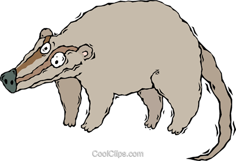 ant eater, aardvark Royalty Free Vector Clip Art illustration vc008418