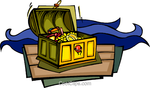 treasure chest treasure gold pirates royalty free vector clip art rh search coolclips com treasure clipart free clipart treasure map