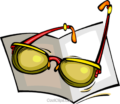 reading glasses, glasses Royalty Free Vector Clip Art illustration vc008437