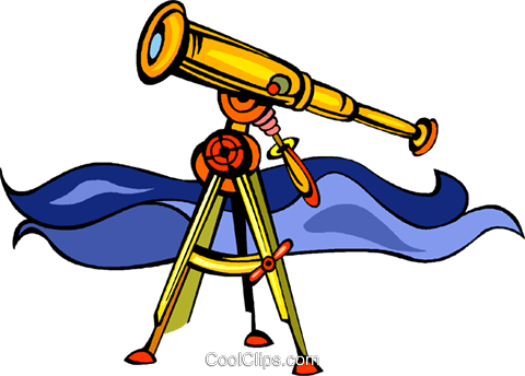 telescope Royalty Free Vector Clip Art illustration vc008439