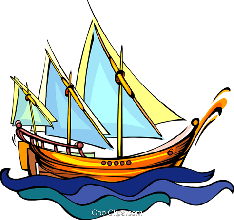 tall ship, sailing ship Royalty Free Vector Clip Art illustration vc008441