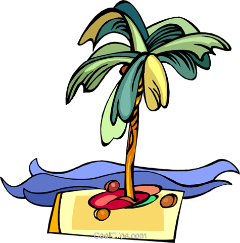 desert island Royalty Free Vector Clip Art illustration vc008447