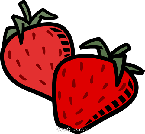 strawberries Royalty Free Vector Clip Art illustration vc008491