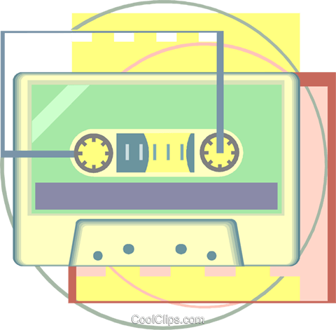 tape cassette Royalty Free Vector Clip Art illustration vc008497