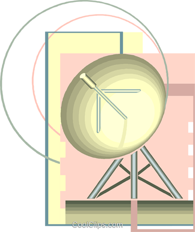 satellite dish Royalty Free Vector Clip Art illustration vc008508