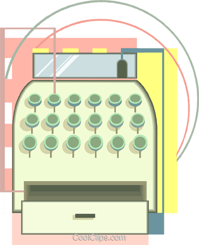 Cash Register Vecteurs de stock et clip-Art vectoriel vc008513