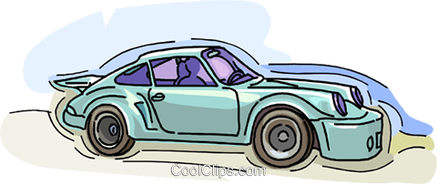 sports car Royalty Free Vector Clip Art illustration vc008520