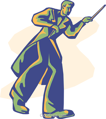 conductor, music, orchestra Royalty Free Vector Clip Art illustration vc008553