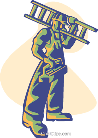 carpenter, construction worker Royalty Free Vector Clip Art illustration vc008567