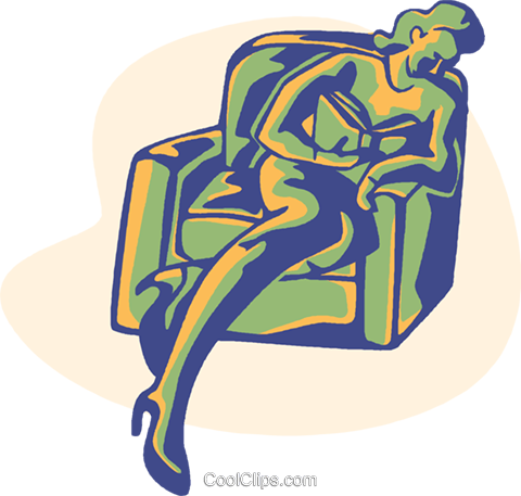 read, reading, relaxing Royalty Free Vector Clip Art illustration vc008581