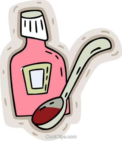 cough medicine Royalty Free Vector Clip Art illustration vc008629