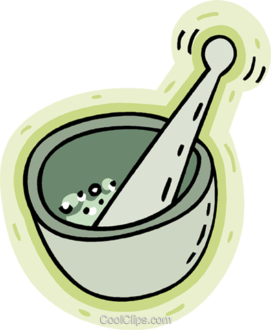 mortar $ pestle Royalty Free Vector Clip Art illustration vc008630