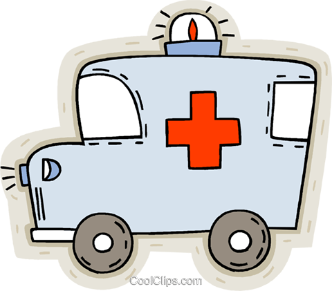 ambulance Royalty Free Vector Clip Art illustration vc008636