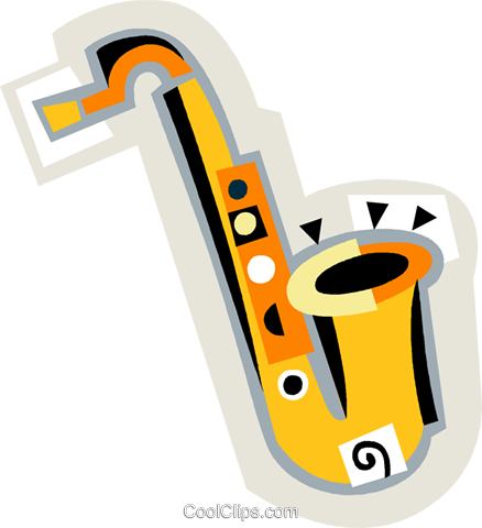 saxophone Royalty Free Vector Clip Art illustration vc008644