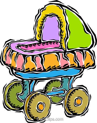 carriage or stroller Royalty Free Vector Clip Art illustration vc008682