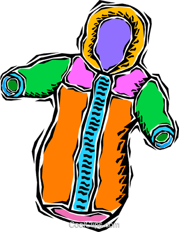 snowsuit Royalty Free Vector Clip Art illustration vc008688