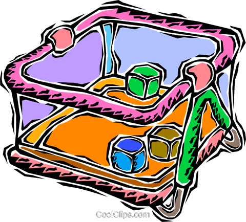 play pen Royalty Free Vector Clip Art illustration vc008690