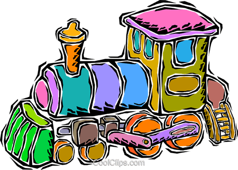 train, toy train Royalty Free Vector Clip Art illustration vc008692
