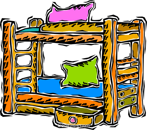 bunk beds Royalty Free Vector Clip Art illustration vc008693