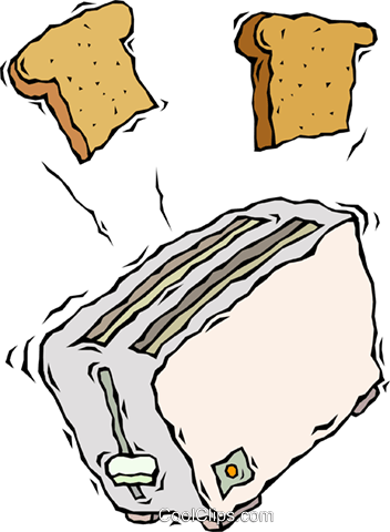 toaster Royalty Free Vector Clip Art illustration vc008699