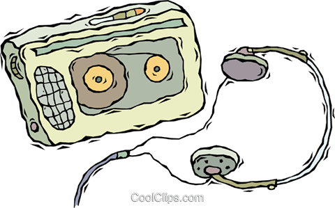 walkman, portable stereo Royalty Free Vector Clip Art illustration vc008702