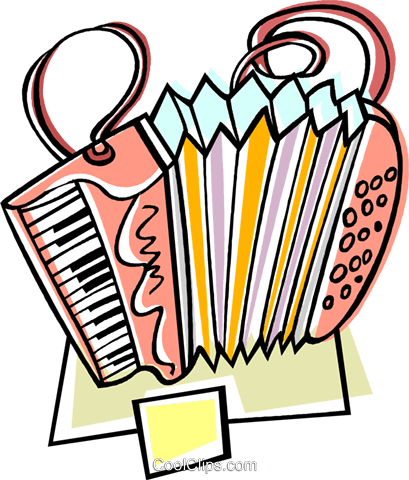 accordion Royalty Free Vector Clip Art illustration vc008710
