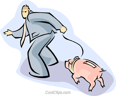 piggy bank Royalty Free Vector Clip Art illustration vc008790