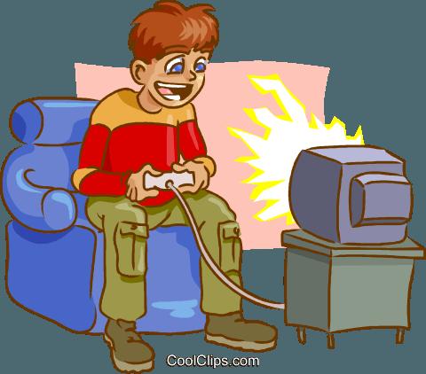 Video Games Royalty Free Vector Clip Art Illustration