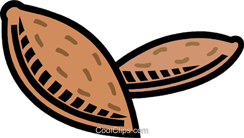 almonds Royalty Free Vector Clip Art illustration vc008837