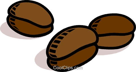 coffee beans Royalty Free Vector Clip Art illustration vc008841