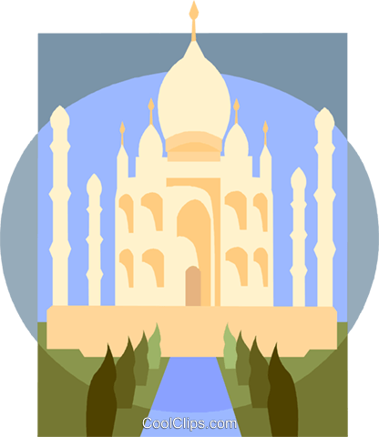 Taj Mahal Royalty Free Vector Clip Art illustration vc008851