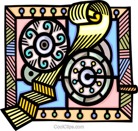 gears of automation Royalty Free Vector Clip Art illustration vc008885