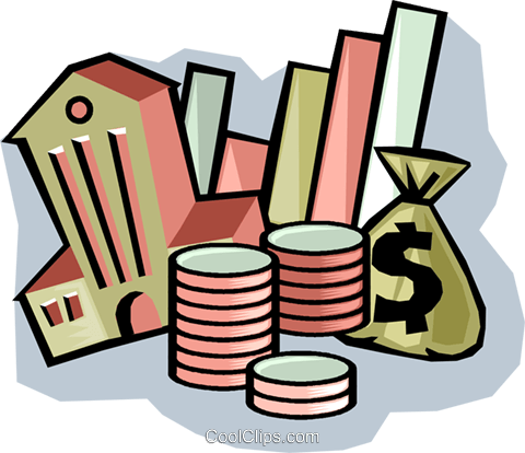 bank symbol with money Royalty Free Vector Clip Art illustration vc008911