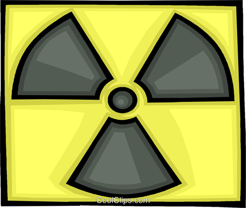 nuclear fallout symbol Royalty Free Vector Clip Art illustration vc008919