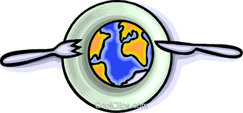 the earth as a resource for the taking Royalty Free Vector Clip Art illustration vc008920