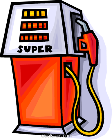 gas pump Royalty Free Vector Clip Art illustration vc008934