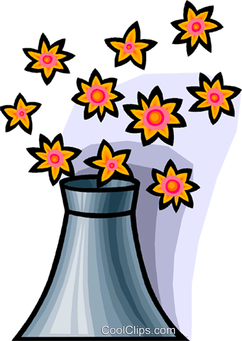 nuclear energy and nature Royalty Free Vector Clip Art illustration vc008938